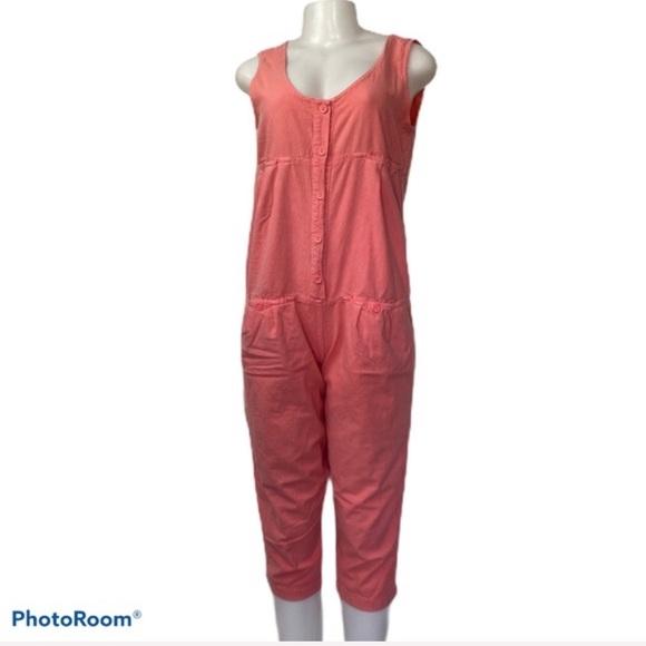 Vintage Pants - Vintage C'est Olivia Coral Cotton Jumpsuit S